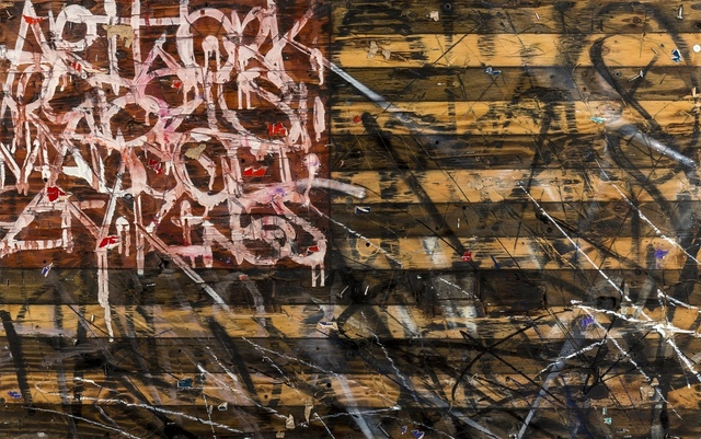Saber, 'Stars and Stripes', 2014, Mixed Media, Mixed media on wood, Forum Auctions