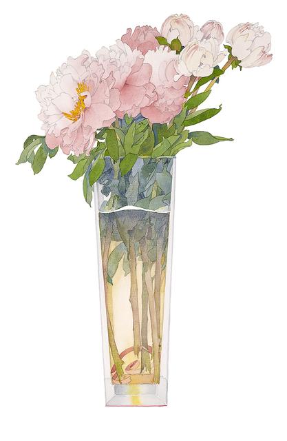 Gary Bukovnik, 'Pink Peonies in a Tall Vase', 2019, The Bonfoey Gallery