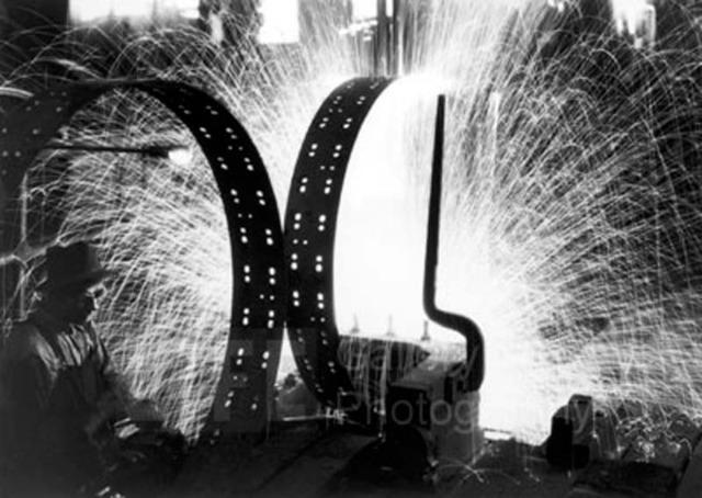 Margaret Bourke-White, 'Welding Tire Rims, International Harvester', 1933, Contessa Gallery