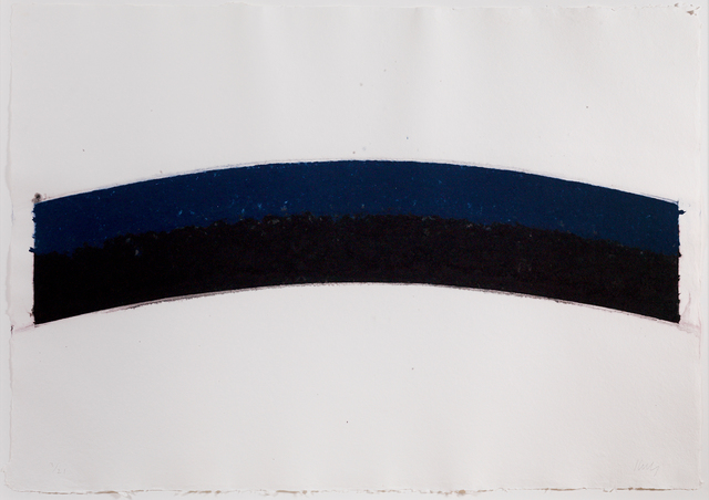 , 'Colored paper III (Blue Black Curves),' 1976, Susan Sheehan Gallery