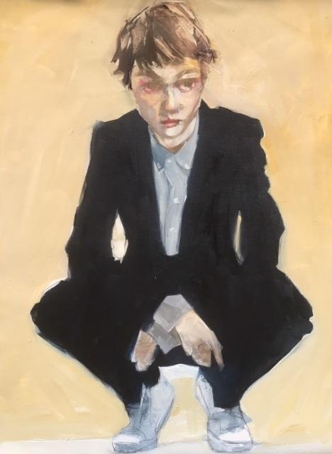 , 'Girl Crouching,' 2018, Susan Eley Fine Art