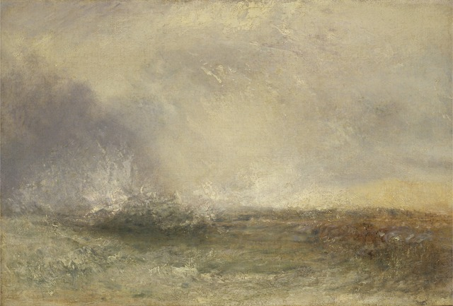 J. M. W. Turner, 'Stormy Sea Breaking on a Shore', 1840-1845, Yale Center for British Art