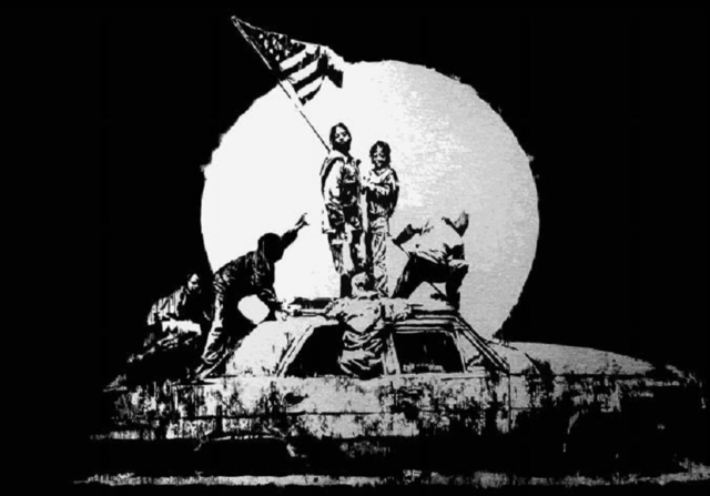 Banksy, 'Silver Flag', 2006, Taglialatella Galleries