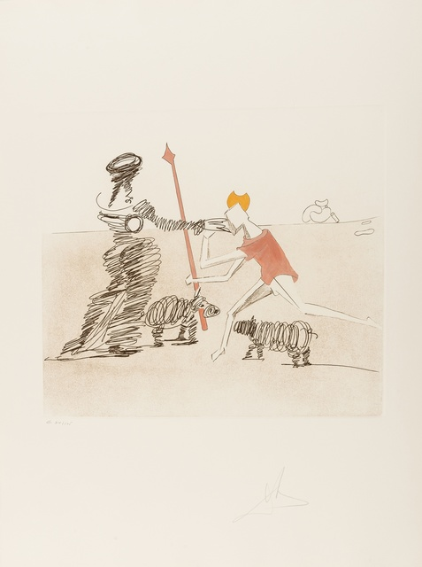 Salvador Dalí, 'Pastorale (Field 80-1K)', 1980, Print, Etching with aquatint printed in colours, Forum Auctions