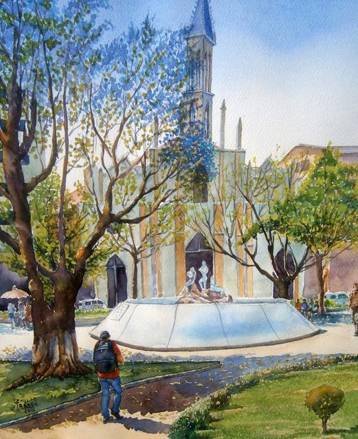 Emilio Torrez, 'Corazonistas Square in Fall', 2017, Casa Toscana