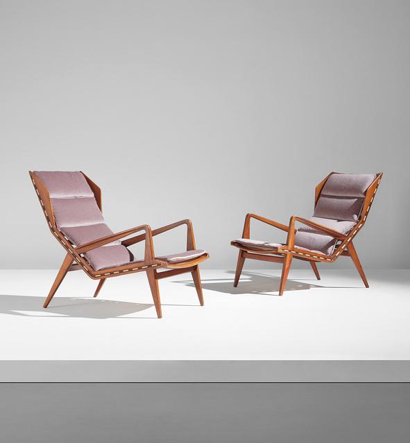 Gio Ponti, 'Pair of armchairs, model no. 1811', circa 1953, Phillips