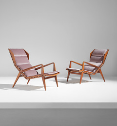 Pair of armchairs, model no. 1811