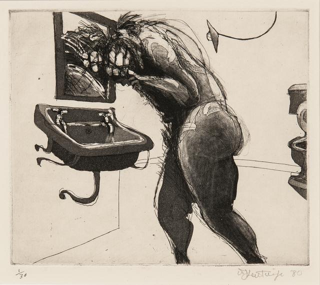 William Kentridge, 'Plate from the Series Domestic Scenes', 1980, Skinner