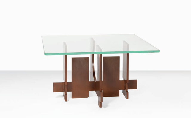 ", 'Coffee table ""Forme espace""(Space shape) ,' 1969, Galerie Loft"