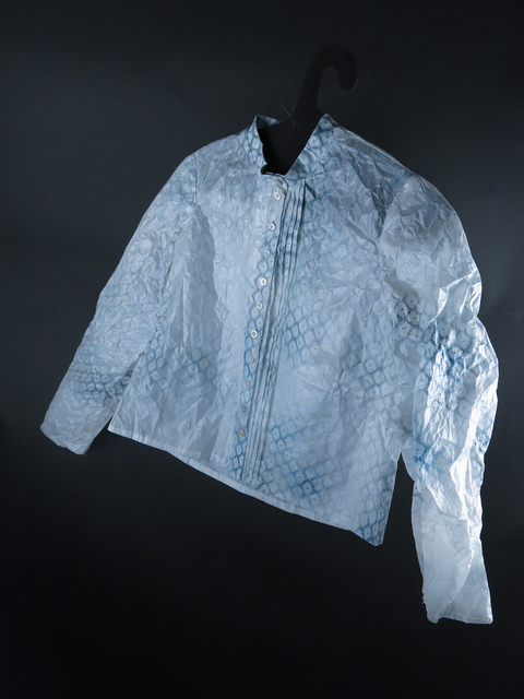 , 'Formal Shirt with Blue Stencil Print,' 2012, Carrie Haddad Gallery