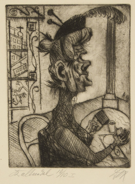 Otto Dix, 'Old Woman at the Café', 1920, Galerie St. Etienne