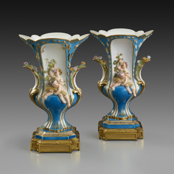 ", 'Pair of Vases Duplessis ""à Enfants"",' 1753, The Frick Collection"