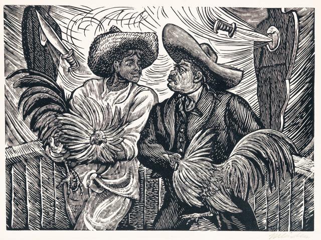 , 'Dos Galleros,' ca. 1940, Hecho a Mano