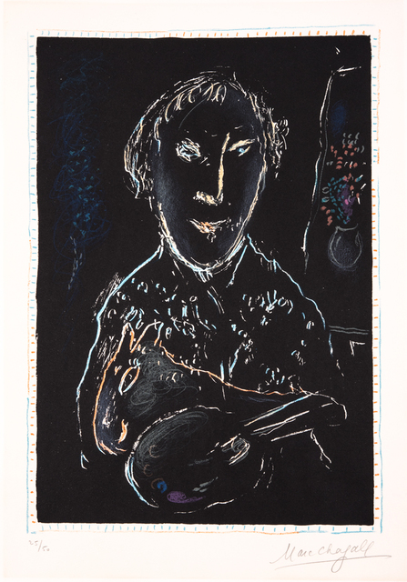 Marc Chagall, 'Autoportrait', 1973, Print, Lithograph, Odon Wagner Gallery