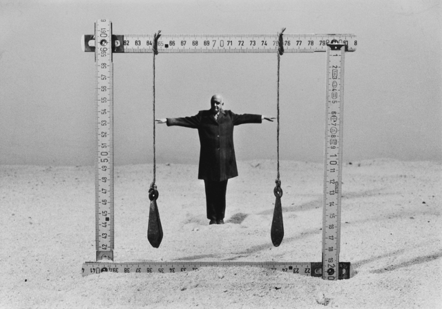 Gilbert Garcin, 'Connaître ses limite - Knowing one's limits', 1997, Photography, Gelatin silver print, Stephen Bulger Gallery