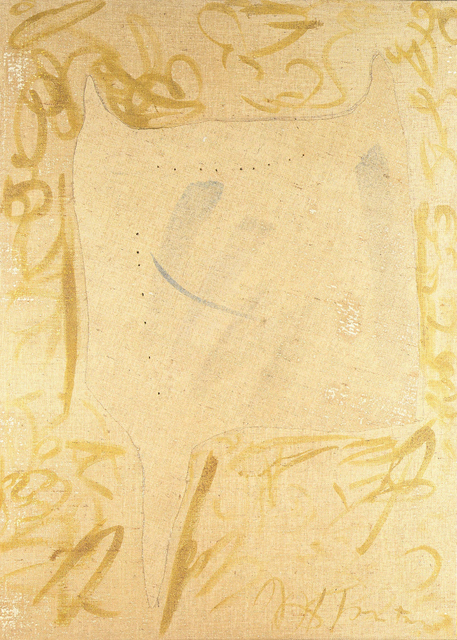 Lucio Fontana, 'Concetto Spaziale, Forma', 1958, Painting, Mixed media on burlap, Robilant + Voena