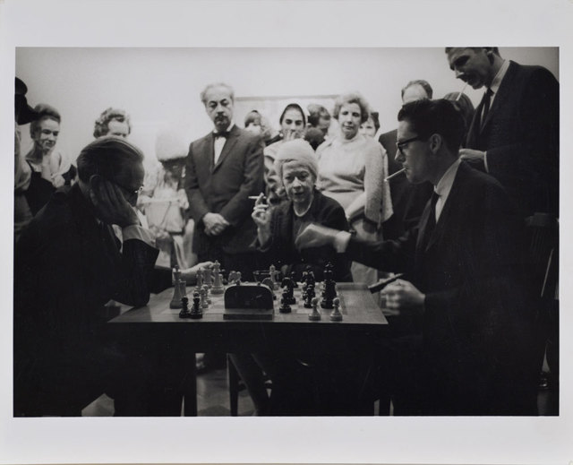 , 'Duchamp and Walter Hopps Playing Chess at Opening Reception, Duchamp Retrospective, Pasadena Art Museum,' 1963, Robert Berman Gallery