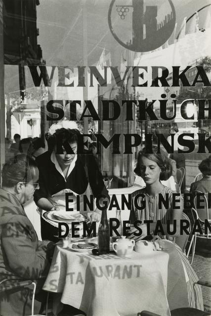 René Burri, 'Restaurant Kempinski am Kurfürstendamm', 1959, Ostlicht. Gallery for Photography