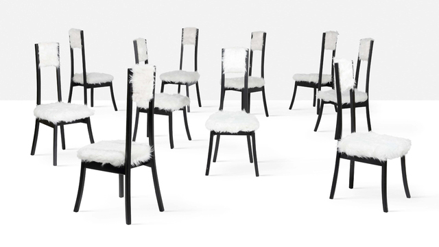 Angelo Mangiarotti, 'Set of 10 chairs', circa 1972, Aguttes