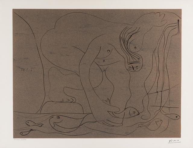 Pablo Picasso, 'Femme nue Pêchant des Truites à la Main (Baer 1327 i/iii)', 1962, Forum Auctions