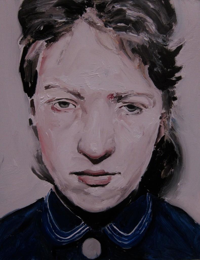 Untitled (woman blue shirt)