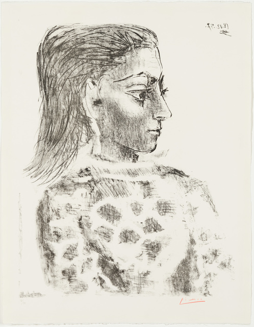 Pablo Picasso, 'Bust with Check-Cloth Bodice - Jacqueline ', 1957, Christopher-Clark Fine Art