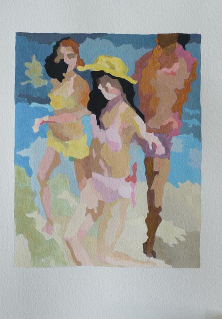 , 'Beach Dance (study),' 2018, Jonathan Ferrara Gallery
