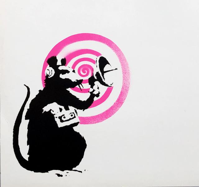Banksy, 'Banksy Radar Rat vinyl record art', 2008, Lot 180