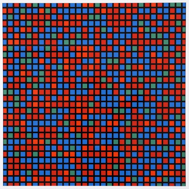 François Morellet, 'Chartres, bleu-rouge', 1973, JORDAN / SEYDOUX