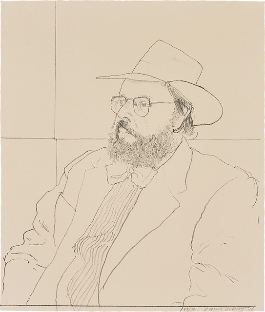 David Hockney, 'Henry Geldzahler with Hat, from Friends', 1976, Phillips