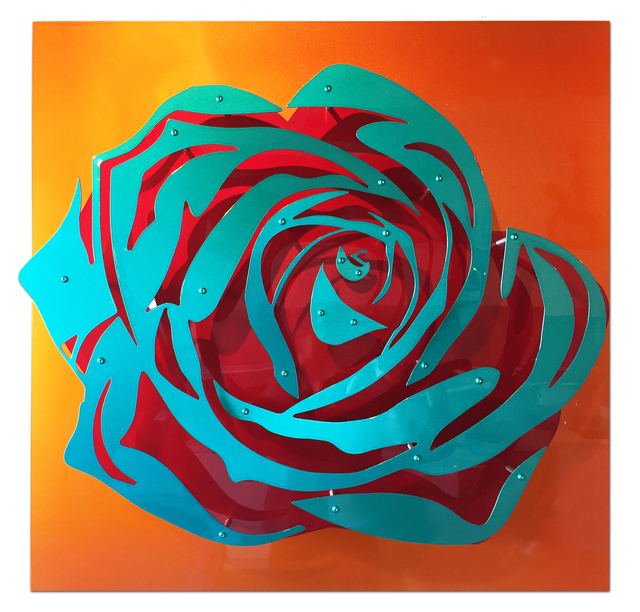 , 'Candy Rose - Blue on Orange,' 2017, FP Contemporary