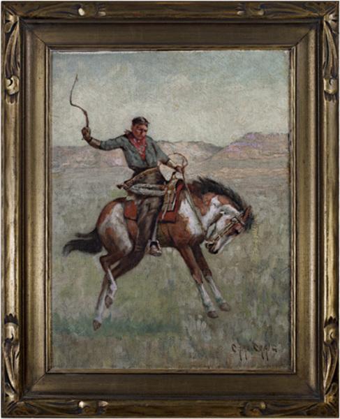Charles Craig, 'Cowboy on Horseback (To be sold as pair Native American on Horseback)', ca. 1880s, David Barnett Gallery