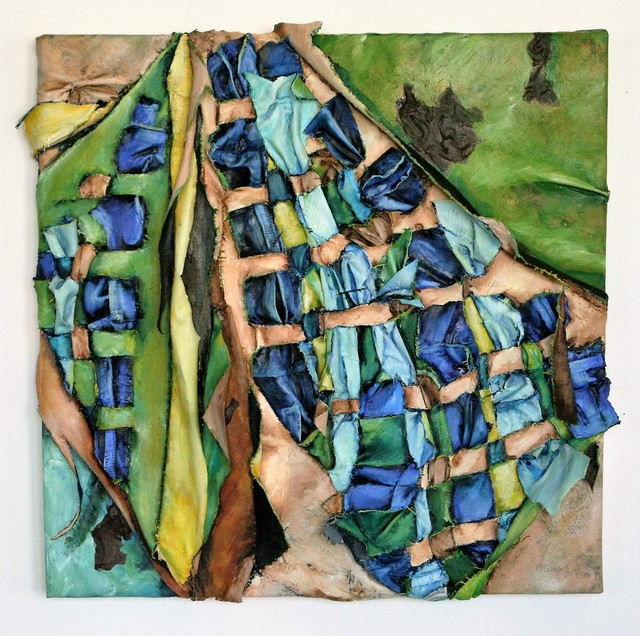 Christina Massey, 'Interwoven 14', 2015, Painting, Oil on Canvas with Clothing, The Untitled Space