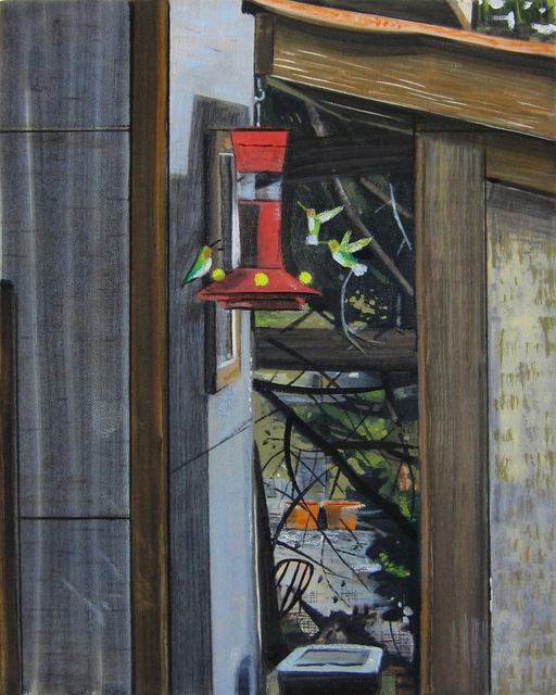 , 'Hummingbirds at the Feeder,' , Gail Severn Gallery