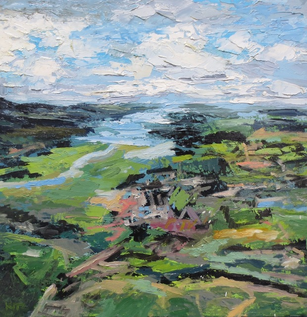 , 'Pt. Reyes Aerial Study,' 2018, Seager Gray Gallery