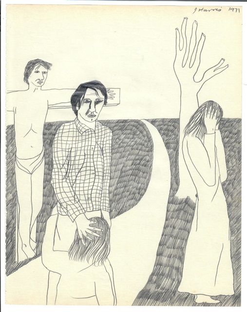 , 'Figures with Crucifixion,' 1971, {Suite}