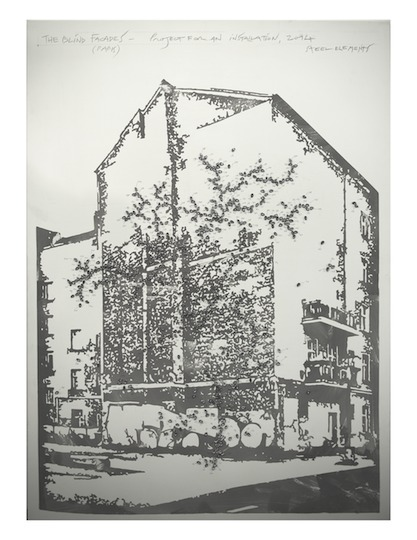 , 'Blind facades (projects for installation -­‐ Paris),' 2014, Leila Heller Gallery