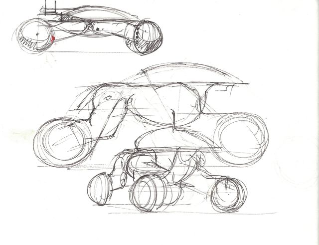 Syd Mead, 'Concept Sketch for Aliens Game, ATV Military Vehicle. (Drawing on reverse)', 2007, Edward Cella Art and Architecture
