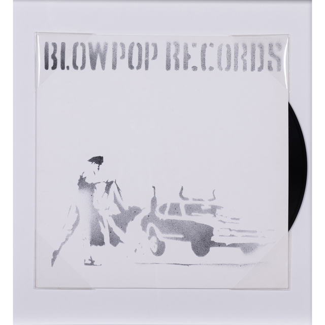 Banksy, 'Blow Pop Records', 1999, Mixed Media, Aerosol and stencil on record sleeve including the vinyl record in 33 rpm, PIASA
