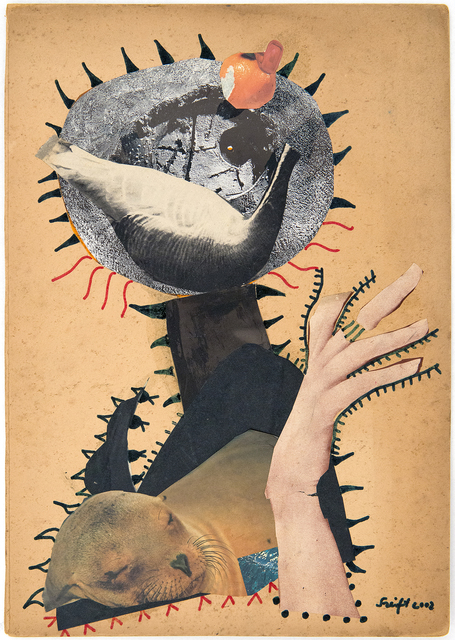 Bela Szeift, 'Unmatched Portrait', ca. 1965, Drawing, Collage or other Work on Paper, Collage, watercolor and ink, FRED.GIAMPIETRO Gallery