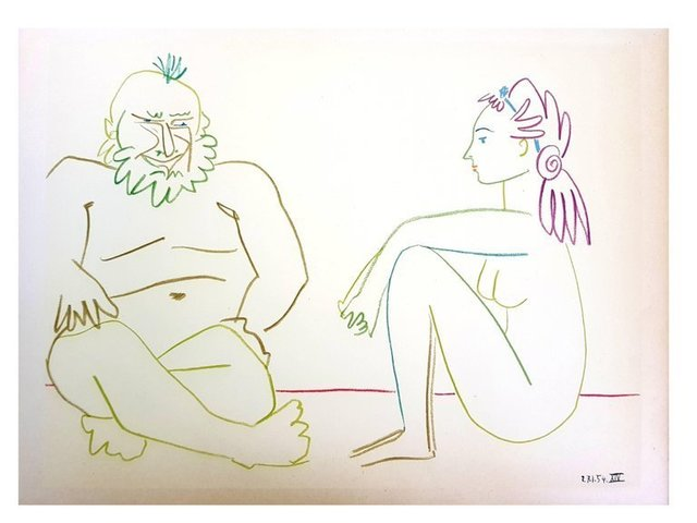 """Pablo Picasso, 'Lithograph """"Human Comedy II"""" after Pablo Picasso', 1954, Galerie Philia"""