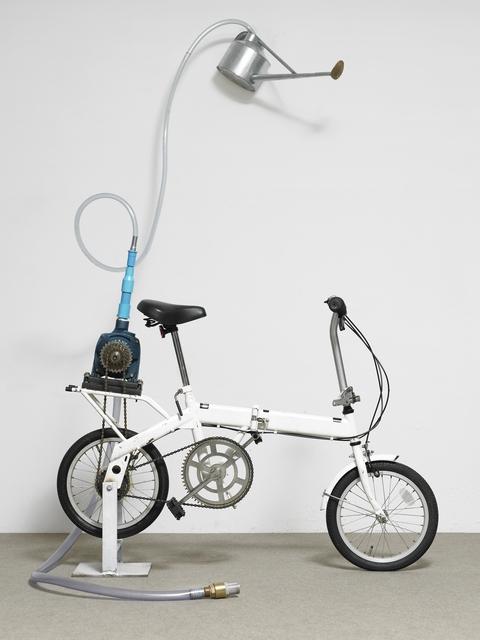 Rirkrit Tiravanija, 'Untitled (bicycle shower)', 2010, Installation, Bicycle, waterpump, hose, sprinkling can ca. 111 x 91 x 50 cm                    In a custom-made crate    ca. 140 x 125 x 50 cm, Helga Maria Klosterfelde Edition