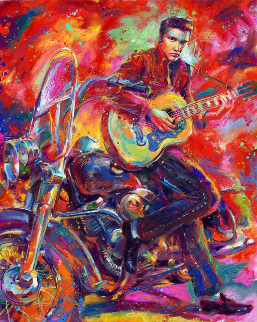 , 'The King of Rock 'n' Roll – Original Painting,' , Newport Brushstrokes Fine Art