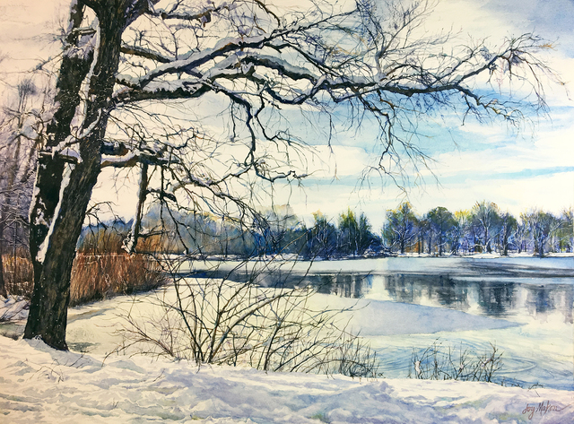 , 'Spring Snow,' 2019, 440 Gallery