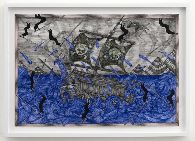 , 'Old Skull Ship (Falling Flags),' 2015, Joshua Liner Gallery