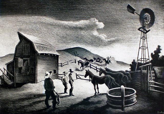 Thomas Hart Benton, 'The Corral', 1948, Kiechel Fine Art