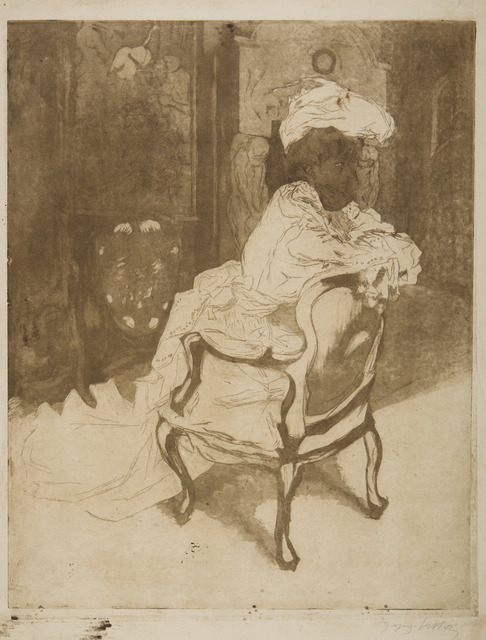 Jacques Villon, 'La Parisienne, Tournée a Droit', 1902, Childs Gallery
