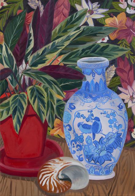 , 'Blue Bird Vase with Calathea,' 2019, David B. Smith Gallery