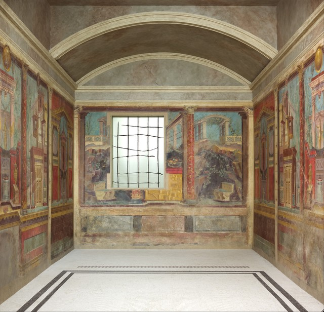 Unknown Roman, 'Cubiculum (bedroom) from the Villa of P. Fannius Synistor at Boscoreale', ca. 50–40 B.C., The Metropolitan Museum of Art