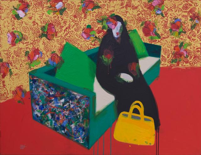 , 'Woman sitting on a chair / إمرأة جالسة على الكرسي ,' 2017, al markhiya gallery